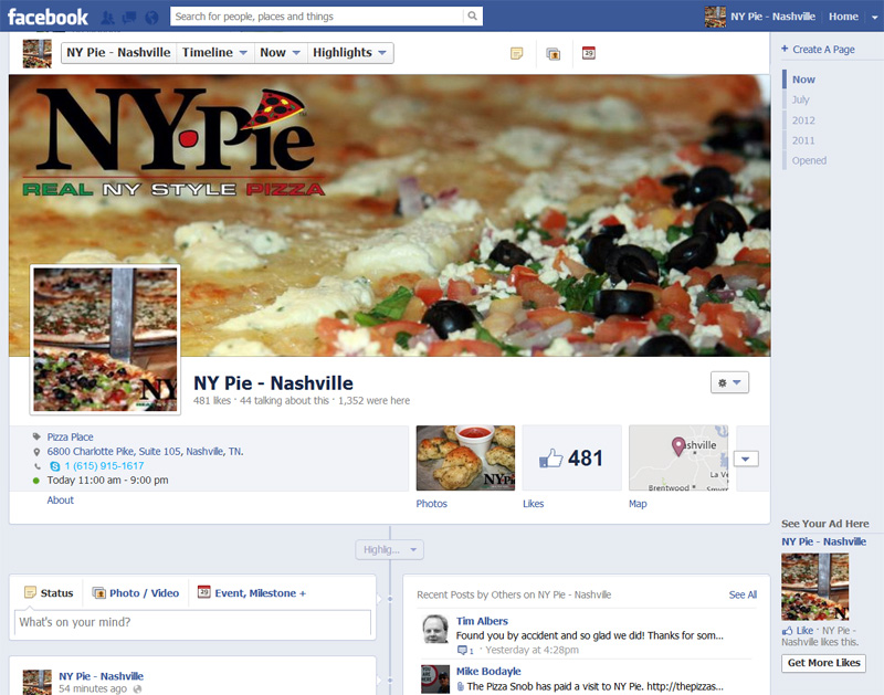 NY Pie Nashville on Facebook