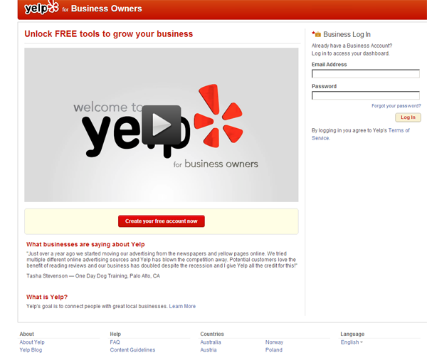 Yelp for Businesses Owners