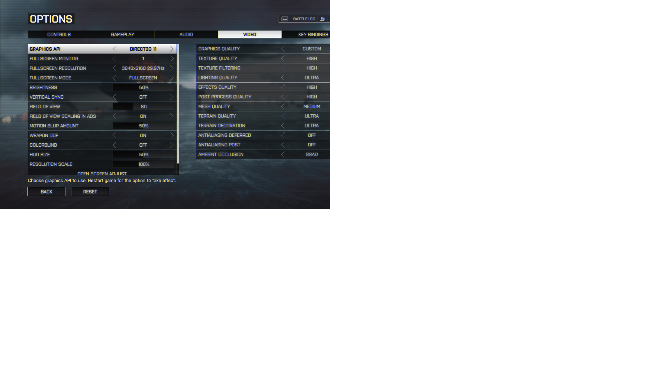 Battlefield 4 4k Settings